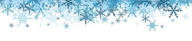 Banniere d hiver avec les flocons de neige bleus 78474478